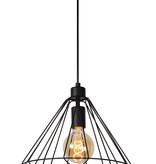 Lampe à suspension fil blanc ou noir 20cm ou 32cm Ø E27