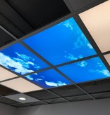 Cloud ceiling 60x60cm for structure ceiling or surface-mounted frame