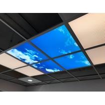 Plafond nuages 60x60cm pour salle de bain dans un cadre apparent