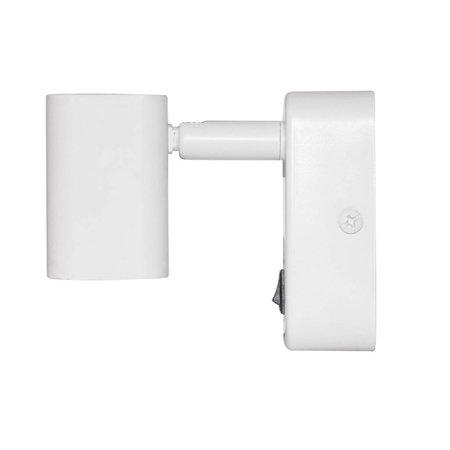 Applique murale lit LED 6W blanc, noir 85mm H orientable