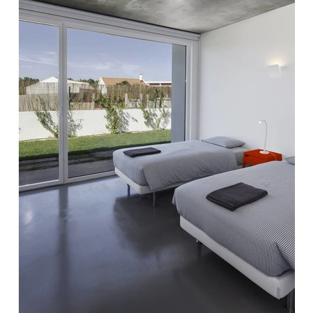 Wall light interior 250mm W LED plaster square R7S