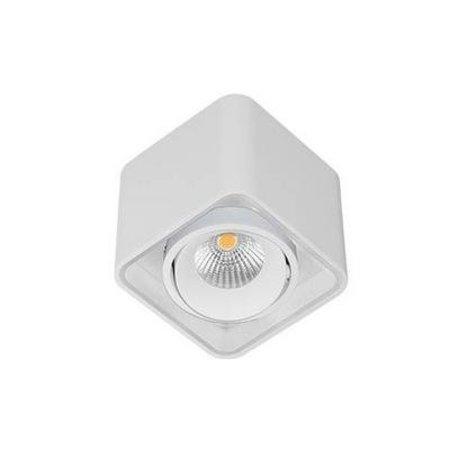 Plafonnier LED carré orientable 100mm 10W blanc, noir