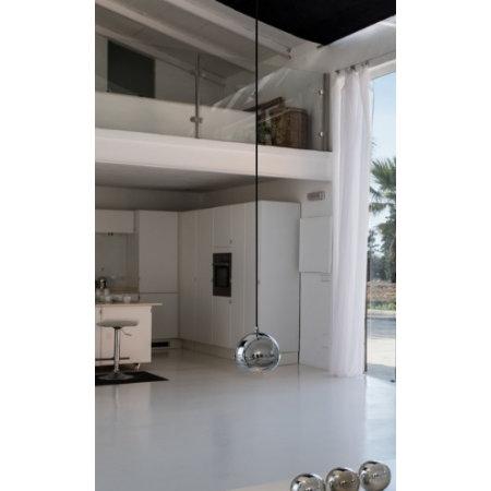Hanglamp medium bal, wit, koper, messing, chroom of wijnrood 145mm Ø