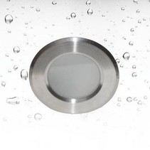 Downlight GU10 round for bathroom inox Ø 85mm GU10