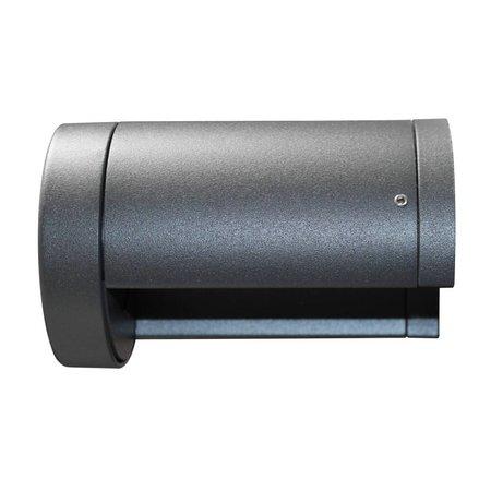 Applique murale exterieure noire LED 140mm large 7W