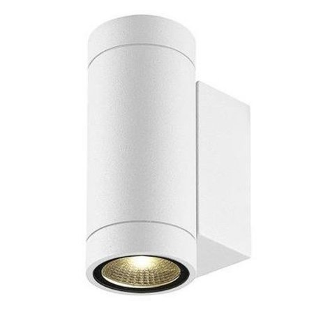 Applique murale exterieure blanche,  noire LED 2x3W 160mm