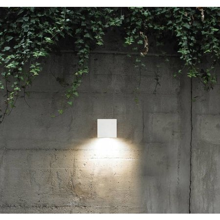 Outdoor wall light fixture LED white square 158mm H 26W