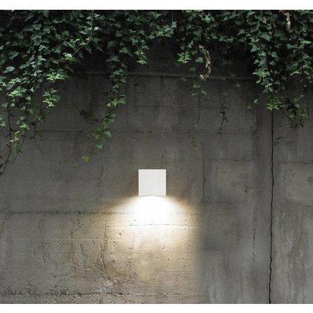 Wandlamp buiten LED wit vierkant 58mm hoog 26W