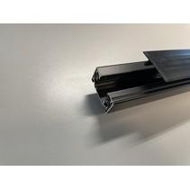 Profil de finition encastrable 1m long pour rail monophase noir ou blanc