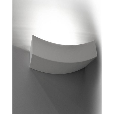 Wall light plaster living room curved R7S 365mm W white