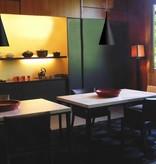 Hanglamp boven eettafel chroom, wit, zwart 430mm H E27