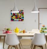 Pendant light design LED conic white 305mm high 24W