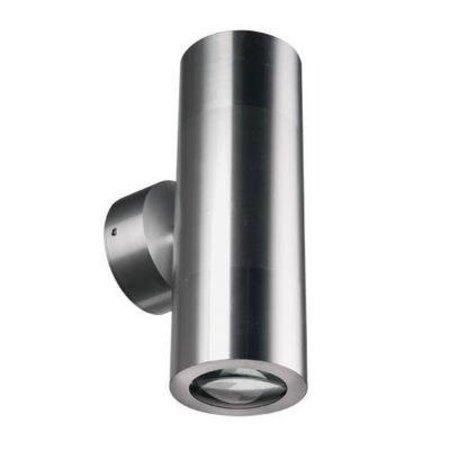 Wall light outdoor cylinder grey 196mm high GU10
