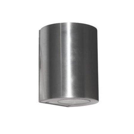 Applique murale exterieure LED cylindrique grise 100mm haut 4W