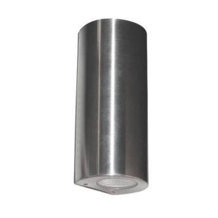 Wall light LED outdoor cylinder grey 180mm high 2x4W