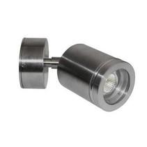 Applique murale exterieure LED orientable cylindrique grise 77mm haut 4W
