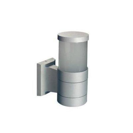 Wandlamp buiten zwart of grijs 360° cilinder 203mm hoog E27