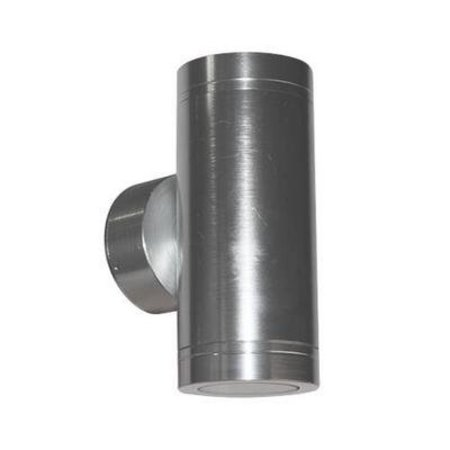 Wandlamp buiten LED cilinder grijs 147mm hoog 2x4W