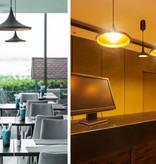Hanglamp design LED conisch zwart goud 350mm diameter 24W