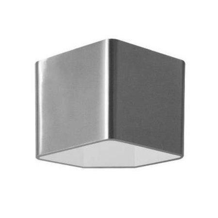 Wandlamp LED grijs wit vierkant up down 115mm hoog 7,5W
