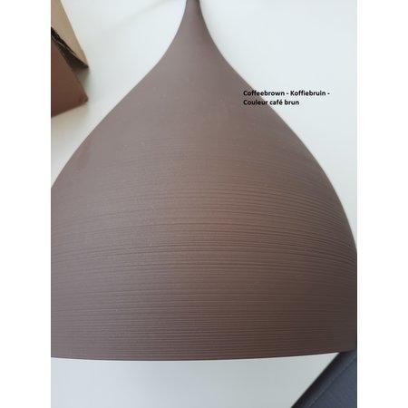 Drop pendant light black, copper, brown 32 cm wide