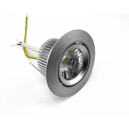 Spot encastrable LED 6W blanc, gris 30°/60° sans transfo