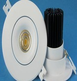 Recessed spot saw size 70mm LED 9W design 95mm outer size