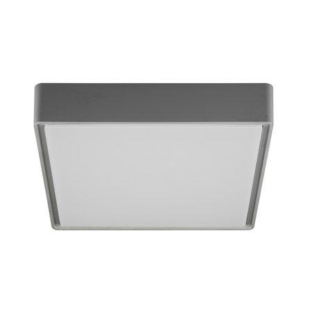 Vierkante plafondlamp voor badkamer of buiten IP65 wit, grijs of zwart