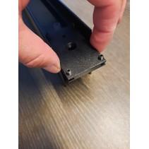 Connector met voeding monofase voor gelakt railprofiel