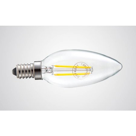 Lampe bougie dimmable LED 4W filament