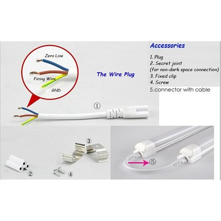 LED tube 60cm 10W including fixture
