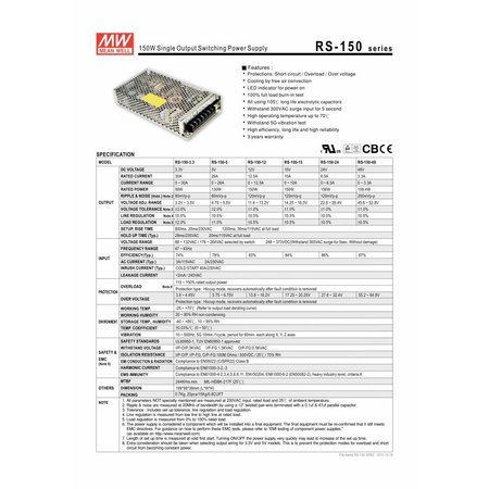 LED driver Meanwell 0-150W