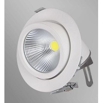 Downlight recessed 30W LED 360° orientable 190mm Ø