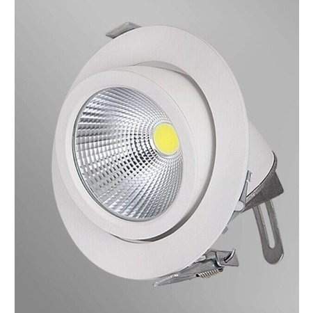 Inbouwspot LED 30W 360° richtbaar wit 190mm diameter