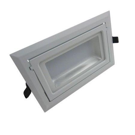 Inbouwspot LED rechthoekig 40W richtbaar dimbaar