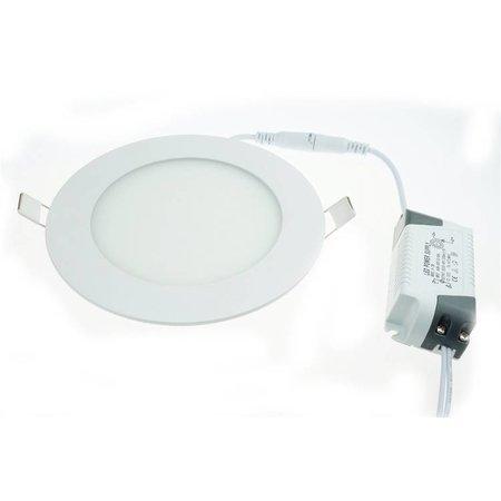 LED panel light 3W recessed round 85mm diameter white