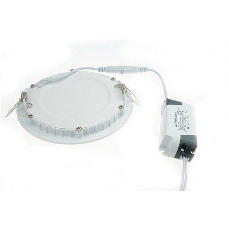 LED paneel inbouw 3W verlichting rond 90mm diameter wit