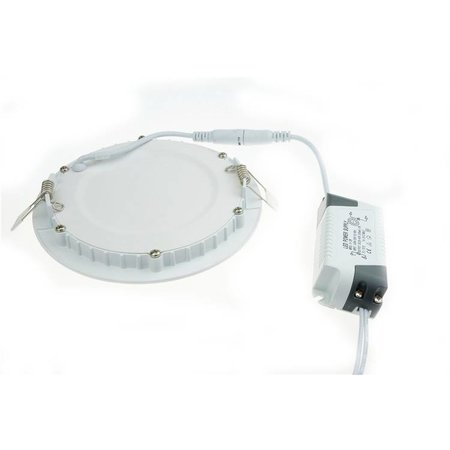 Dalle LED plafond ronde encastrable 6W 120mm diamètre