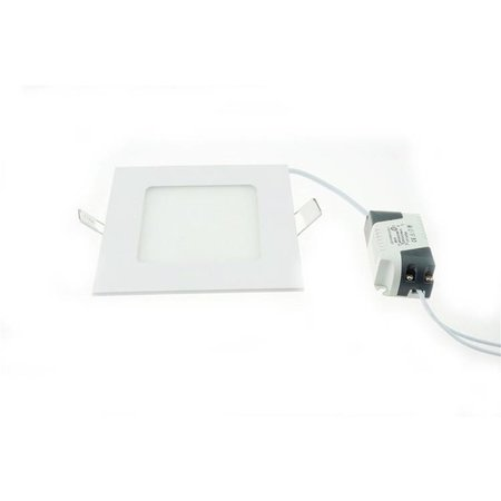 LED panel light 6W recessed square 120x120mm white