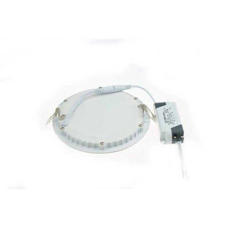 LED panel light 12W round recessed 170mm diameter white