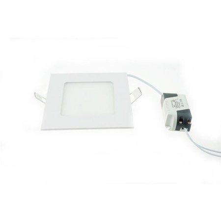 LED panel recessed 12W lighting square 160mm Ø white