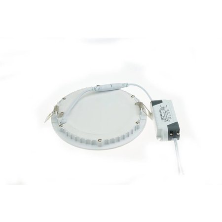 LED panel light 15W round recessed 190mm diameter white