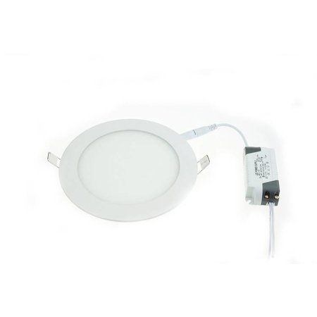 Dalle LED plafond ronde encastrable 18W 223mm diamètre