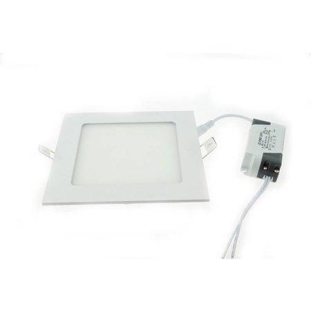 LED paneel plafond inbouw 18W vierkant 225x225mm wit