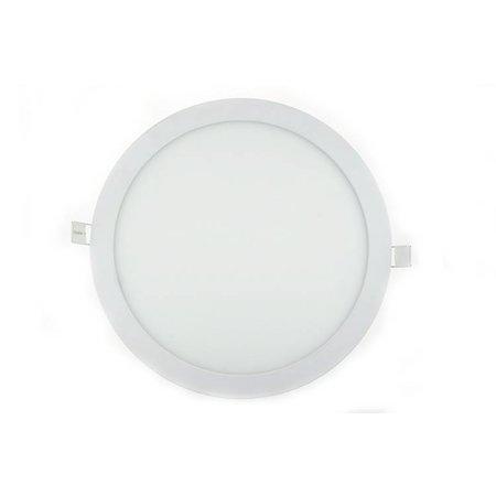 LED panel light 24W round recessed 300mm diameter white