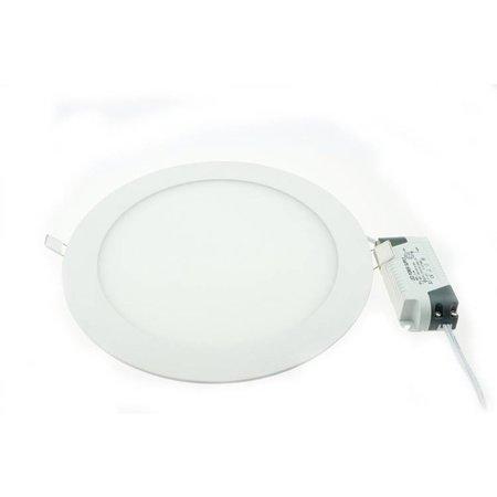 Dalle LED plafond ronde encastrable 24W 300mm diamètre