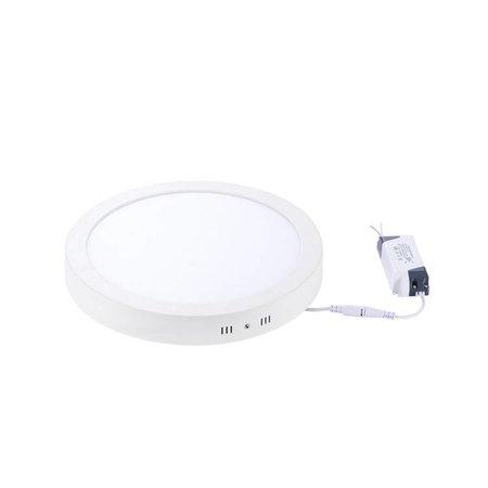 Dalle LED plafond ronde apparente 24W 300mm diamètre