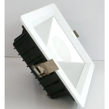 Downlight recessed LED square 10W white 140x140mm