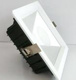 Spot encastrable LED carré 20W 180x180mm transparent