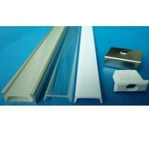 LED profiel opbouw 1m lang 12mm breed met plexi